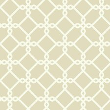 "Ashford Geometrics 33' x 20.5"" Threaded Links Geometric Wallpaper"