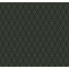 """Ashford Geometrics 27' x 27"""" Diamond Lattice Geometric Wallpaper"""