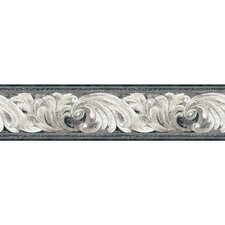 "Portfolio II 15' x 6"" Architectural Scroll Wallpaper Border"