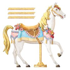York Kids IV Carousel Horse Wall Decal
