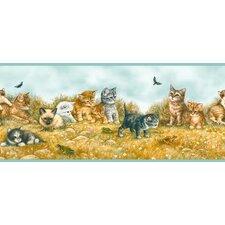 """York Kids IV Kitten 0.75' x 1.5"""" Wildlife Border Wallpaper"""