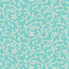 "Candice Olson II 27' x 27"" Printed Leaf Scroll Foiled Wallpaper"