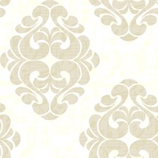 "Risky Business Tone On Tune Straight 33' x 20.5"" Damask Distressed Wallpaper"