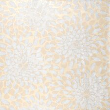 "Risky Business Toss The Bouquet 33' x 20.5"" Floral Botanical Foiled Wallpaper"