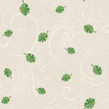 """Peek-A-Boo 33' x 20.5"""" Leaf Scroll Wallpaper"""