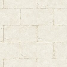 "Fresco 33' x 20.5""  Sandstone Block Wall Brick Embossed Wallpaper"