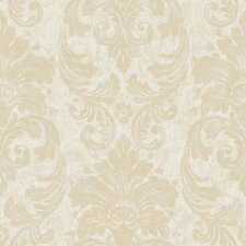 "Fresco 33' x 20.5"" Damask Embossed Wallpaper"