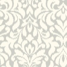 "Candice Olson Shimmering Details 33' x 20.5"" Whisper Damask Wallpaper"