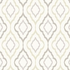 "Candice Olson Inspired Elegance Diva 27' x 27"" Geometric Wallpaper"