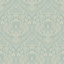 "Gentle Manor 33' x 20.5"" Damask Wallpaper"