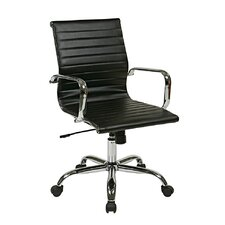 Thick Padded High-Back Office Chair with Built-In Lumbar Support