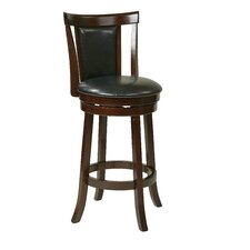 "OSP Designs 30"" Swivel Bar Stool with Cushion"