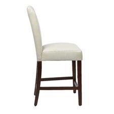 24'' Bar Stool with Cushion (Set of 2)