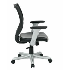 Work Smart Mid-Back Mesh Conference Chair with Flip Arms
