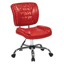 Mid-Back Task Chair with Chrome Accents