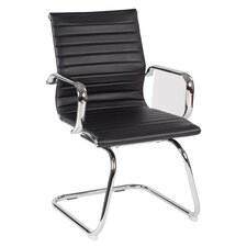 Work Smart Mid-Back Conference Chair with Arms