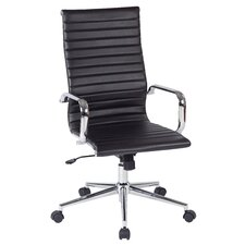 Work Smart High-Back Executive Office Chair with Arms
