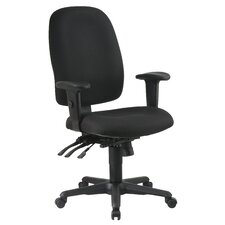 Ergonomic Mid-Back Office Chair with Adjustable Soft Padded Arms
