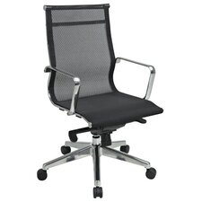 Deluxe Mesh Mid-Back Mesh Office Chair with Arms