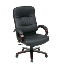 High-Back Eco Leather Executive Chair with Arms