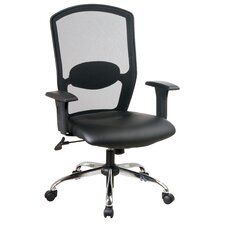 Screen Mid-Back Mesh Office Chair with Arms