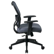 Space Mid-Back Veraflex Deluxe Office Chair with Adjustable Arms