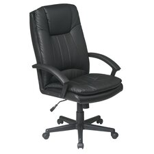 High-Back Leather Deluxe Executive Chair