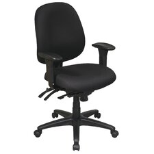 Work Smart Mid-Back Multi-Function Ergonomic Office Chair
