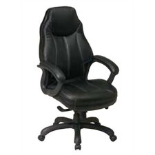 High Black Leather Deluxe Oversized Executive Chair