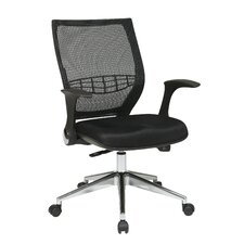 ProGrid Back Mesh Fabric Conference Chair with Flip Arms
