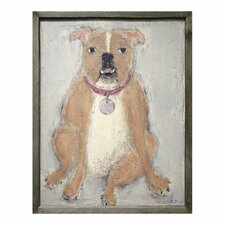 Bulldog Framed Painting Print