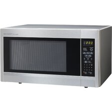 1.8 Cu. Ft. 1100W Countertop Microwave in Silver