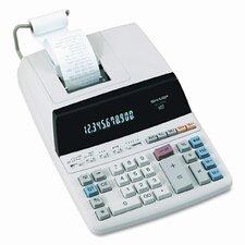 EL-1197PIII Desktop Calculator, 12-Digit Fluorescent, Two-Color Printing