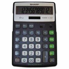 EL-R297BBK Recycled Series Calculator w/Kick-stand, 12-Digit, LCD, Black
