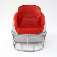 NCAA Ohio State University Football Helmet Leather Lounge Chair