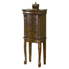 Louis Philippe Jewelry Armoire with Mirror