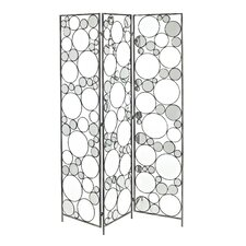 """69"""" x 16.5"""" Reflections Folding Screen 3 Panel Room Divider"""
