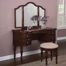 Marquis Cherry Vanity Set with Mirror