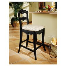 """Hills of Provence 24"""" Bar Stool with Cushion"""