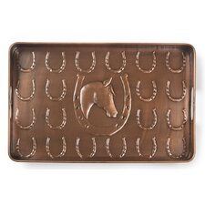 Horse Shoe Multi-Purpose Shoe Tray for Boots, Shoes, Plants, Pet Bowls, and More
