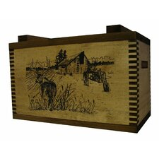 Standard Storage Box With Barnyard Buck Print