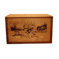 "Wooden Accessory Box With ""Wildlife Series"" Deer Print"