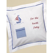 Sailboat and Seagull Tooth Fairy Cotton Pillow Cover