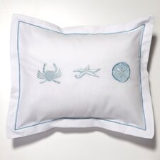Crab, Starfish, Sand Dollar Percale Cotton Pillow Cover