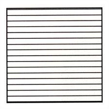 Horizontal Lines Magnetic Graphic/Grid Whiteboard, 4' x 8'