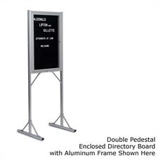 Double Pedestal Open Face Free-Standing Letter Board, 3' x 2'