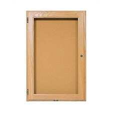 Double Pedestal Enclosed Wall Mounted Bulletin Board