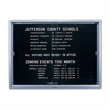'S' Series Sliding Glass Enclosed Wall Mounted Letter Board