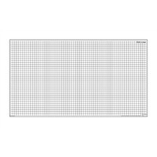 Dry-Erase Teaching Aides Mat - Grid Lines Magnetic Whiteboard, 3' x 3'