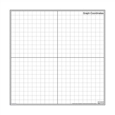 Dry-Erase Teaching Aides Mat - Graph Coordinates Magnetic Whiteboard, 3' x 3'